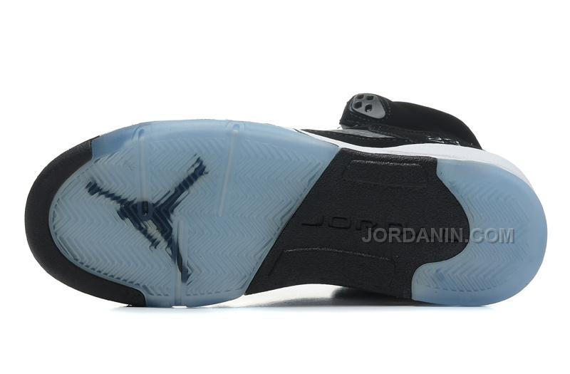 "pretty nice b08e7 eb38a New Air Jordans 5 Retro ""Oreo"" Black/Cool Grey-White For Sale"