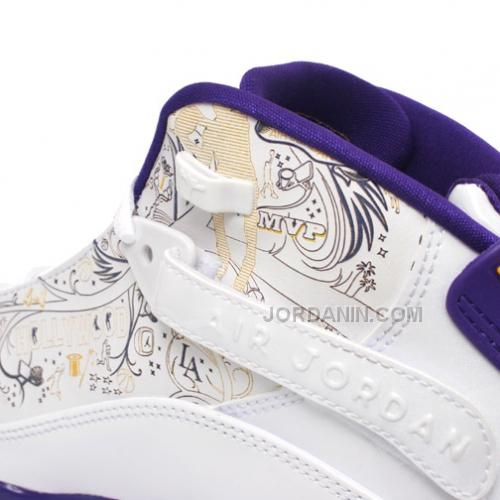 aa9abccc0e4b Air Jordan 6 Rings Los Angeles Lakers White Court Purple-Taxi-Silver 322992-
