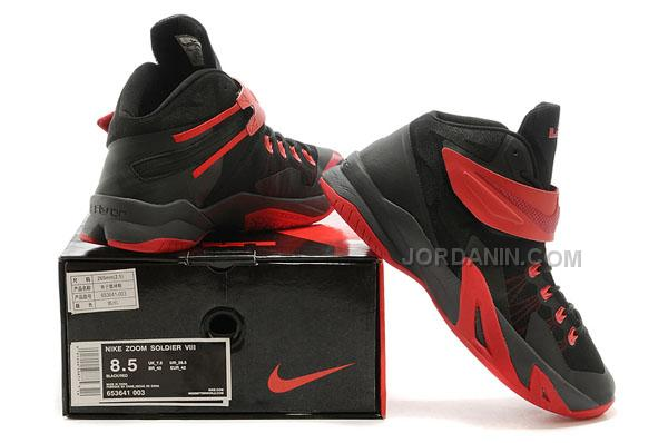 hot sales 30274 06511 Nike Lebron Soldier 8 Black Red Online