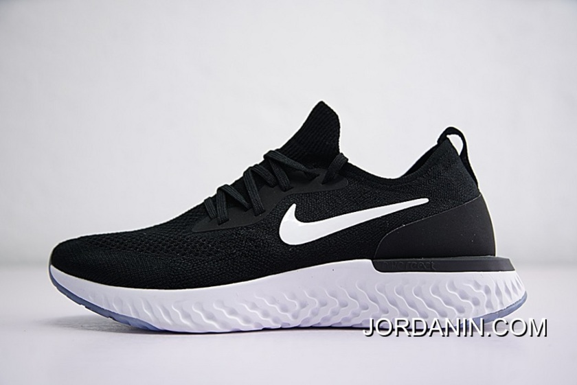 07c275f39504d For Sale Men Shoes High Version Nike Epic Foot Feeling 18 Ss React Flyknit  Foam Particles