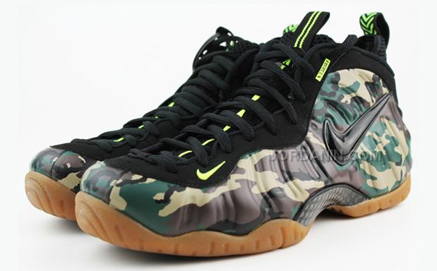 "1c233f1a308ab Nike Air Foamposite Pro PRM LE ""Army Camo"" Forest Black For Sale ..."