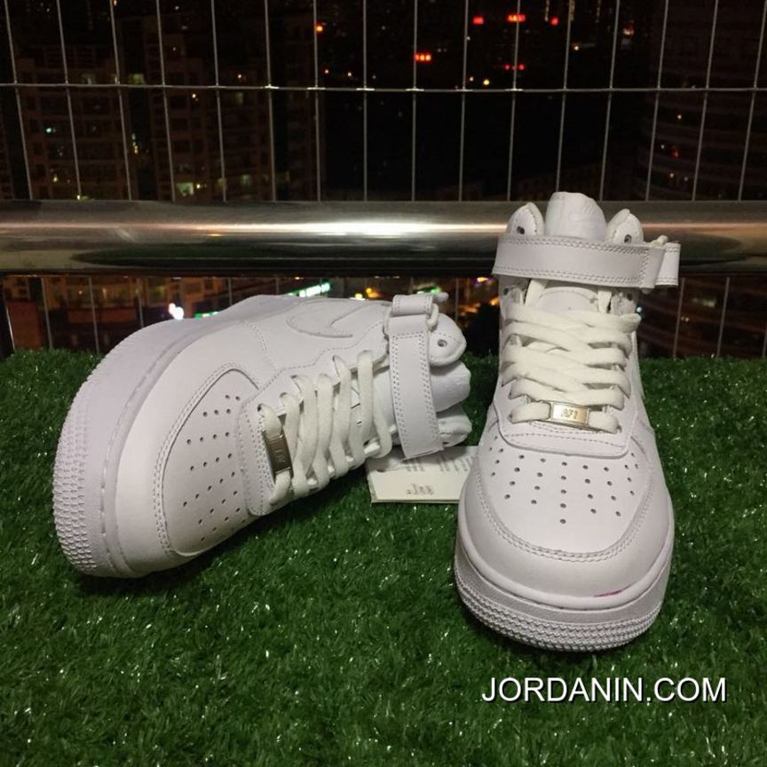 24abeeb13 Top Deals Nike Air Force One Af1 Pure White High Casual Shoes 366731 ...
