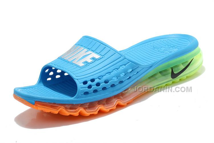 Cheap Nike Air Max 2015 Slide Slippers Blue Orange Green On Sale