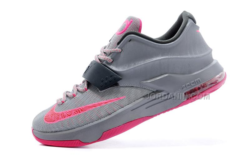 """29fd6943bf27 Nike Kevin Durant KD 7 VII """"Calm Before The Storm"""" Grey Hyper Punch ..."""