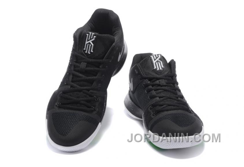 the latest d9c0a 015b5 Nike Kyrie 3 Mens BasketBall Shoes Black White Cheap To Buy SdhEhzS