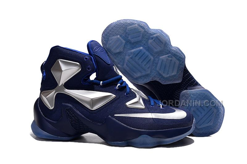 new style 1ca28 97c2f Cheap 2015 Lebron James 13s Shoes Blue Silver Color Basketball Sneakers  Online