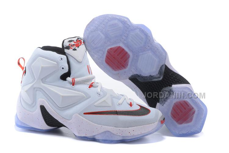 uk availability 0bd38 9035c Hot Nike LeBron 13 White Red Black