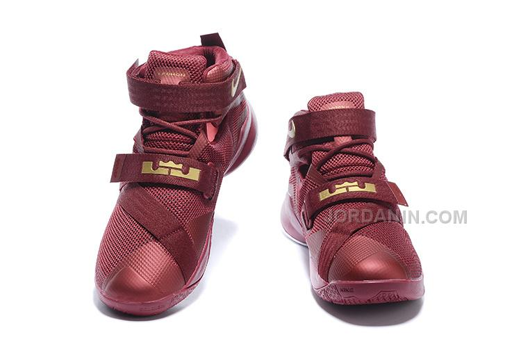 check out 29f68 5be0e Nike LeBron Soldier 9 Wine Red Gold White Sale