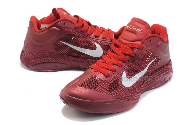 e39f125f7e05 New Arrival Nike Zoom Hyperfuse Low 2010 Team Red White Sport Red ...