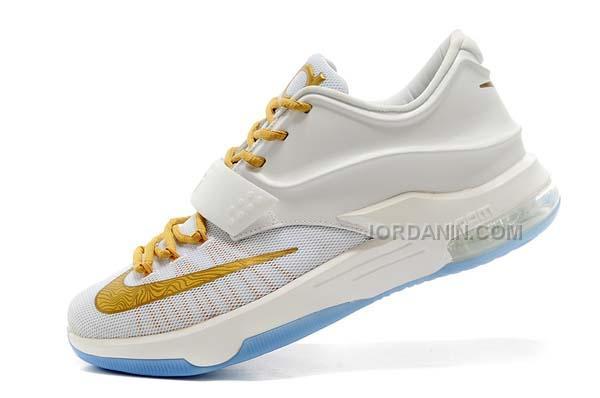 newest 18132 452ec Nike Zoom KD 7 White Gold Online