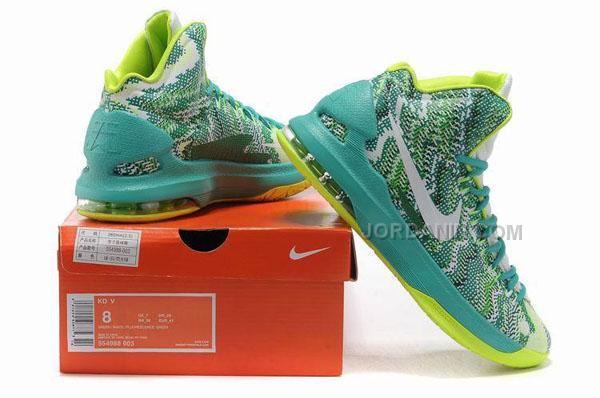 26da7af617c0 Nike Zoom KD V ID Offers New Graphic Pattern White Gorge Green Online