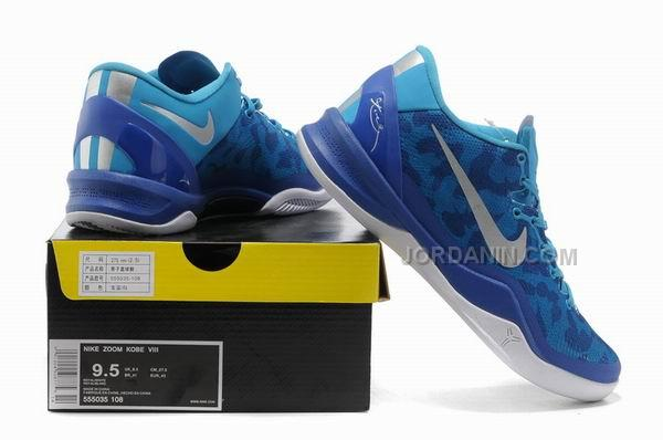 big sale 67084 cde28 Nike Kobe 8 System Basketball Shoe Snake Blue White Online