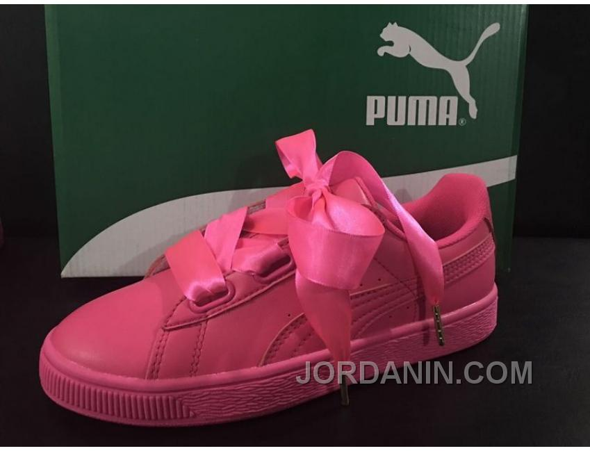 separation shoes 8db6c 438b6 Puma Suede Basket Heart Satin Pink Copuon Code