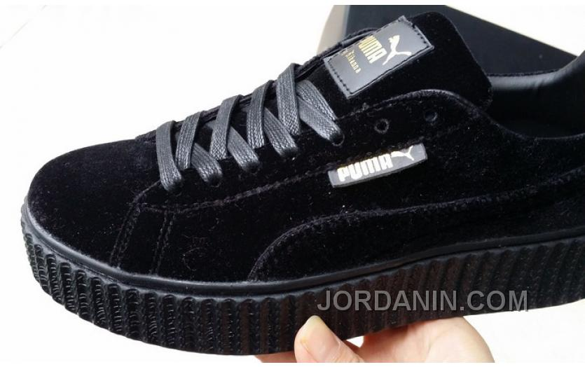 sports shoes 85368 3d362 Puma By Rihanna Suede Creepers Black New Release Super Deals