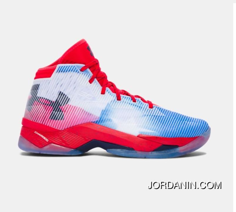 5cc7d2567ac Buy Under Armour Curry 2.5 Red Blue White Mens Basketball Shoes Top Deals
