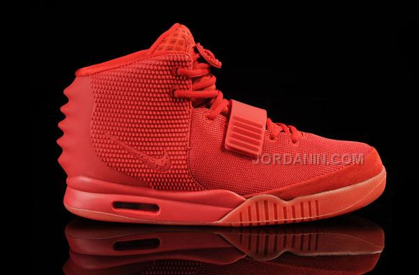 new product b36ad c36c3 Cheap Women Nike Air Yeezy 2 Red October