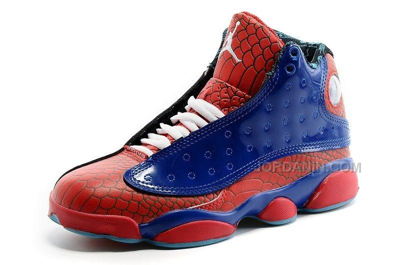 check out fc61a 96796 2016 Girls Air Jordan 13 GS Size Red Snakeskin Royal Blue For Sale