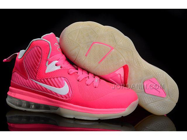 6d0ac2a814a4 New Arrival Nike Zoom LeBron 9 Women Basketball Shoes Pink